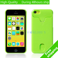 For Apple iPhone Plastic Yes High Quality -thin ID Credit Card Hard Plastic Cover Case For Apple iPhone 5C Free Shipping UPS DHL EMS HKPAM CPAM VR-16
