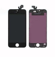 For Apple iPhone   Replacement lcd for iPhone 5 iphone5 LCD display screen Assembly with touch digitizer frame black white