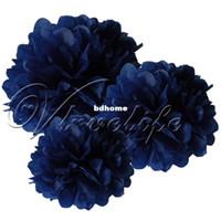 Decorative Flowers & Wreaths blue tissue paper - cm quot Navy Blue Tissue Paper Pom Poms Wedding Birthday Party Home Decor Craft Favors