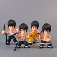 Roles action figure collectors - Kung Fu Master Bruce Lee Q Versions PVC Action Figure Collectors Edition Toys OTFG075