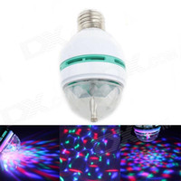 Wholesale 4pcs Sound Controlled E27 W Colorful Auto rotating Mini LED Stage Light for Disco Dj Party Lights V