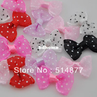 Wedding A013 Yes 60pcs Upick Flower Organza Ribbon Bows butterfly Sewing Craft Appliques A013