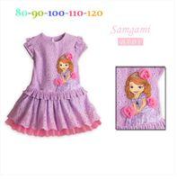 TuTu Summer Straight Girls' Dresses New Fashion 2014 Summer Baby Dress Baby Girl Clothes Kids Cartoon Cotton Dress Girls Clothes Via Fedex L30716