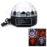 Sound Active active x control - 1pcs Voice Remote Control x LED RGB Crystal Migic Ball Disco DJ Laser Stage Light Lighting Black AC V