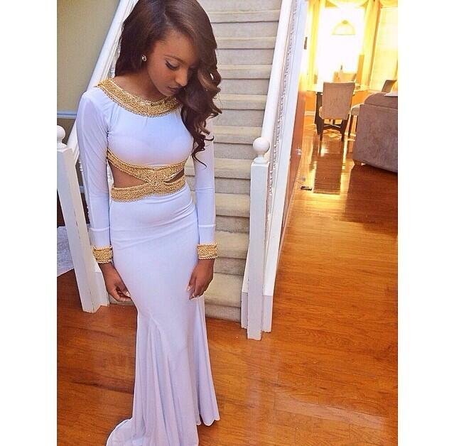 Gold graduation dresses