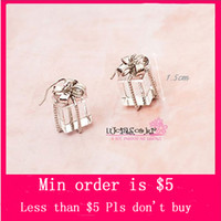 Wholesale Min Order Mix Jewelry order Korean Silver Plated Alloy transparent Acrylic Gift Present Box Earrings Dangle E0151