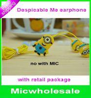 cute mp3 earphone - cartoon Despicable me Minion mm in ear earphone Headset cute Headphone Universal Earphone For PC MP3 MP4 Cellphone