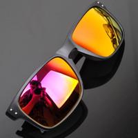 al por mayor sunglasses bike-La alta calidad 13 color 2016 forma los hombres de los deportes que las gafas de sol que pescan las gafas de sol de ciclo de la bicicleta de la bici para los hombres califican los vidrios del diseñador freeshipping