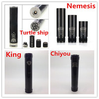 chiyou king nemesis turtle ship mod body Black 510 thread Black chiyou chi you king nemesis turtle ship mod brass stainless steel full mechanical mod clone e cig electronic cigarette ecig tank DHL