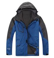 Wholesale 2014 Brand new outdoor climbing clothing Hhiking Jcaket Windproof Waterproof Winter men s ski jacket