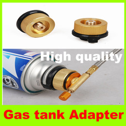 Wholesale Gas tank Adapter Camping Gas Burner Conversion Head Stove Connector Long Tank Flat Tanks Gas Fuel Tank Adaptor gas cylinders adapters H