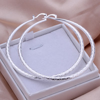Wholesale 37499 Large Silver Hoop Earrings Party Sliver Earring Drop Shipping