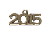 40PCS Metal 2015 Word Charm Pendants