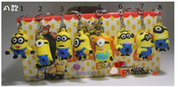 Wholesale New arrival D anime cartoon movie Mr Minions keychain set cute birthday gift pleasantly surprised toy hot sale