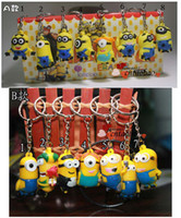 Wholesale New arrival D anime cartoon movie Mr Minions keychain set cute birthday gift pleasantly surprised hot sale