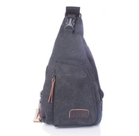 Wholesale 1PCS Mens Fashion Style Canvas Satchel Chest Pack Bag