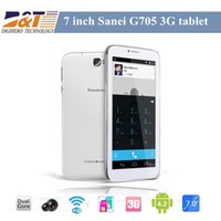 Wholesale New Sanei G705 G Tablet PC inch MTK8312 Dual Core G tablet Built Bluetooth Android with Dual SIM