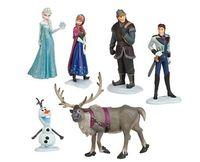 Wholesale set Frozen Anna Elsa Hans Kristoff Sven Olaf PVC Action Figures Toys Classic Toys DHL120pcs
