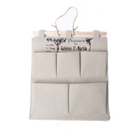 1pcs Household Hanging Pouch 5- Pockets Storage Bag #24957
