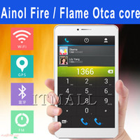 Wholesale Ainol Fire Flame octa core NOVO AX7 G phablet inch Android MTK6592 inch FHD IPS screen GB Tablet pc G GPS mobile phone tablet pc