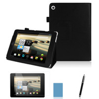 Wholesale PU Leather Stand Case Tablet Cover For Acer Iconia Tab A1 A1 inch Screen Stylus Gift