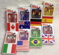 Wholesale 3 mm Earphone World Cup limited Edition with Mic with Retail Package for iPhone g s g S C for iPod Samsung I9500 I9300 S4 S5
