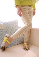 Leggings & Tights Girl Spring / Autumn Low Price spring Kids Skinny Leggings Children's long stripe Leggings pants Girls Leggings casual pants Children cotton blends Tights A04111