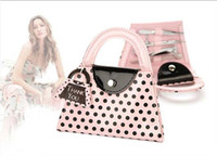 Wholesale The Newest set Pink Polka Dot Purse Manicure Set used as door gift and wedding favor and party favor K08049