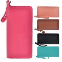 Wholesale S5Q Women s Ladies Faux Leather Long Clutch Zip Around Wallet Purse Handbag Bag AAADFP
