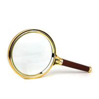 Wholesale Portable mm Handheld Magnifying Lens Magnifier Loupe Reading Magnification Gilt edged Lens Magnifier Loupe X X AAA Quality