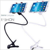Universal   Hot sale! Universal Durable Flexible Long Arms Lazy Dual Clip Holder Bed Desktop Mobile Phone Holder Stand Multifunctional phone holder