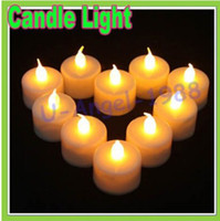 Wholesale 100 Flickering Flicker Flameless LED Tealight Tea Candles Light Battery Operated Wedding Birthday Party Christmas Decoration