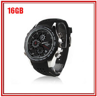 Wholesale 16GB Full HD1920 P fps V6000 amp Waterproof Watch Camera IR Night Vision Spy DVR Watch Camera With Motion Detection