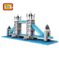 architecture bridge - LOZ famous architecture building blocks sets eductional children toys Tower Bridge LOZ Diamond Blocks Toy