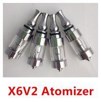 2.5ml Metal X688801 Newest improved X6 V2 atomizer x6 vv 2.5ml cartomizer x6 electronic cigarette atomizer free Shipping