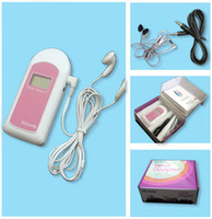 Wholesale Stock in USA With Big Screen Displant AngelSounds Fetal Doppler Pocket Ultrasound Prenatal Fetal Detector Portable Baby Heart Rate Monitor B