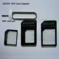 Wholesale SIM Adapter NOOSY Nano Slim Card to Micro amp Standard Slim in with SIM Card Pin For All Mobile Phone Devices in Retail Box