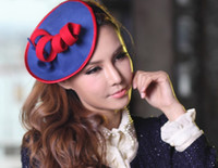 Wholesale Women Wool Felt Fascinator Hat Women Hair Clips Hair Accessories Party Top Hairwear High Good Quality Fashion Dress