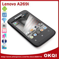 "35Phone 3.5 Android Cheap 3G Cell Phone 3.5"" Lenovo A269i MTK6572M Dual Core Dual Sim GSM WCDMA Android 2.3 WiFi Bluetooth Russian DHL free shipping"
