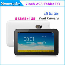 Wholesale Best Quality inch A23 dual core dual camera tablet pc android RAM GB flash light camera Tablet PC