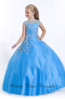 Reference Images accent ball - 2016 Angellic Sabrina Ball Gown Princess Beaded Accent Tulle Perfect Angels Pageant Gowns Party Formal Little Girls Pageant Dresses PA1537