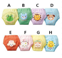 Wholesale 10pcs Toddler Baby Boys Girls Potty Training Pants Children Waterproof Trainer potty underwear Infant Kid s Nappy Pants