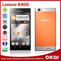 """35Phone 5.5 Android Original Lenovo K900 Smartphone Intel z2580 5.5"""" FHD 1920x1080 pixels Android 4.2 2GB RAM 16GB Dual Camera 13.0MP DHL free shipping"""