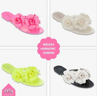 Wholesale Popular Colors Camellia Jelly Flip flops Women s Fashion Dress Shoe Lady s Sandals Slipper