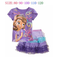 Girl Summer Short Sample Order 2014 Baby Short Sleeve Happy Birthday T Shirt + Tutu Layered Cake dress Girl Summer Clothing Set L30720