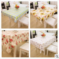 PVC  pvc table cloth - 10 Cotton added thicking waterproof and anti oil no deformation high quality PVC tablecloth home decoration rectangle table cloth