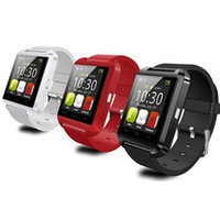 Bluetooth U8 intelligente observe la montre U8 U Regarder pour iPhone 4 / 4S / 5 / 5S Samsung S4 / Note 2 Note 3 / HTC Android Phone Smartphones 3 couleurs de DHL