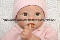 Unisex Birth-12 months Vinyl Reborn baby doll girls toys soft and high quality lifelike baby with clothes brown eyes mohair 22""