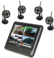 Wholesale Free DHL GHZ CH Digital Wireless Camera Quad DVR Security System