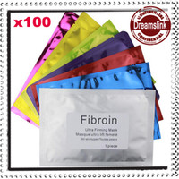 Face acid cosmetics - Fibroin Facial Skin Renewal Anti Wrinkle Face Mask Triple Silk Mask Biological Mask Cosmetic Whitening Facial Multi colors